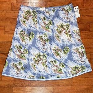 Old Navy Hawaiian Island Low Waist Midi Skirt NWT